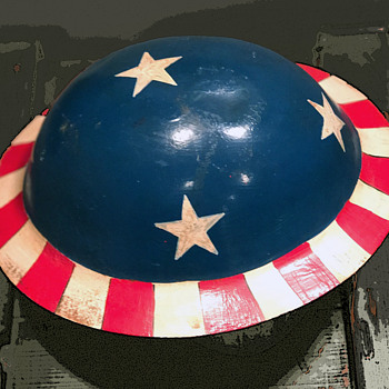 Original 1960s Hippie Protest Helmet Anti-War Counter Culture