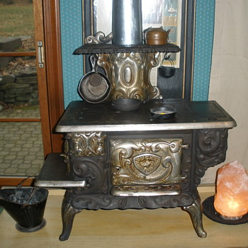 Cast Iron Childs Toy Stove circa 1890 - Kitchen