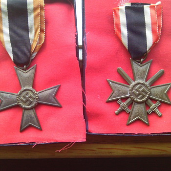 War Merit Cross 2nd class with and without Swords. German WWII medals.  - Military and Wartime