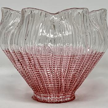 """Loetz Shade - """"kristall Blitzglas mit rot umsponnen"""", PN II-1948, ca. 1904 - Art Glass"""