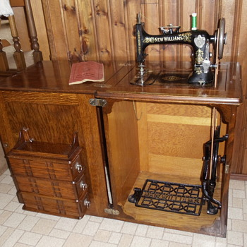 New Williams treadle sewing machine