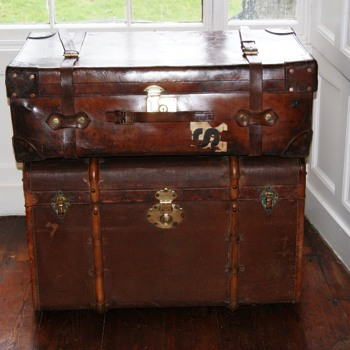 Finnigans leather trunk and Moritz Madler trunk