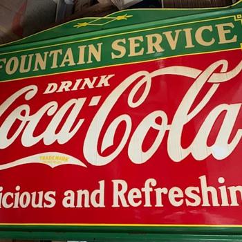 Tennessee Enamel 1935 Vintage Coke Sign - Coca-Cola