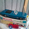 Tin toy mustang,original box.