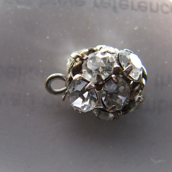 """Found this mystery """"diamond ball"""" or charm... anyone know what it is? - Victorian Era"""