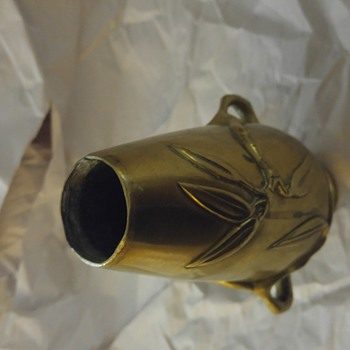 6 1/2 inch brass vase