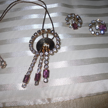 Necklace (Pendant) and Earings by Monet Approx. 1949