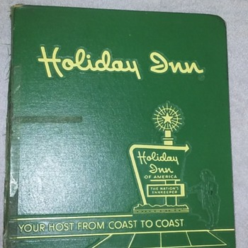 old HOLIDAY INN telephone book cover - Advertising