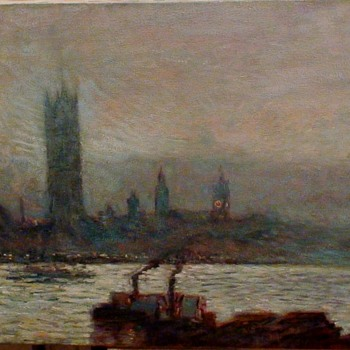 """Frederick """"Childe"""" Hassam """"House Of Parliament Early Evening"""" Reproduction - Fine Art"""