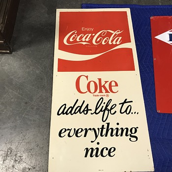 Coca Cola sign 1970's - Coca-Cola