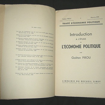 Introduction a l'étude de l'economie politique - 1939 - Books
