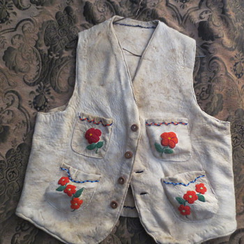 An Indian beaded vest