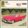 Vintage Car Card - Ford Thunderbird