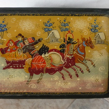 Russian Lacquer Box - Asian