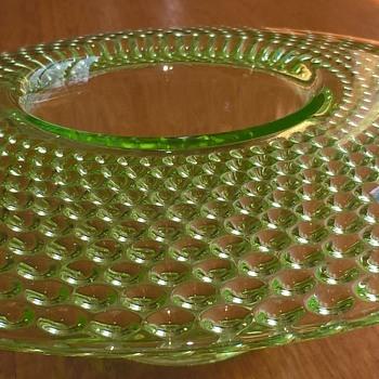 Jobling uranium glass posy vase. - Glassware