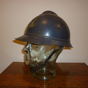 French WWI steel helmet for Colonial Troops.
