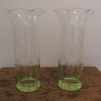 A Pair of Vases - Art Glass