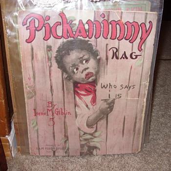 PICKANINNY RAG SHEET MUSIC - Music Memorabilia
