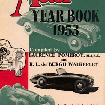 """1953 - """"The Motor Yearbook"""" Advertisement Flyer"""