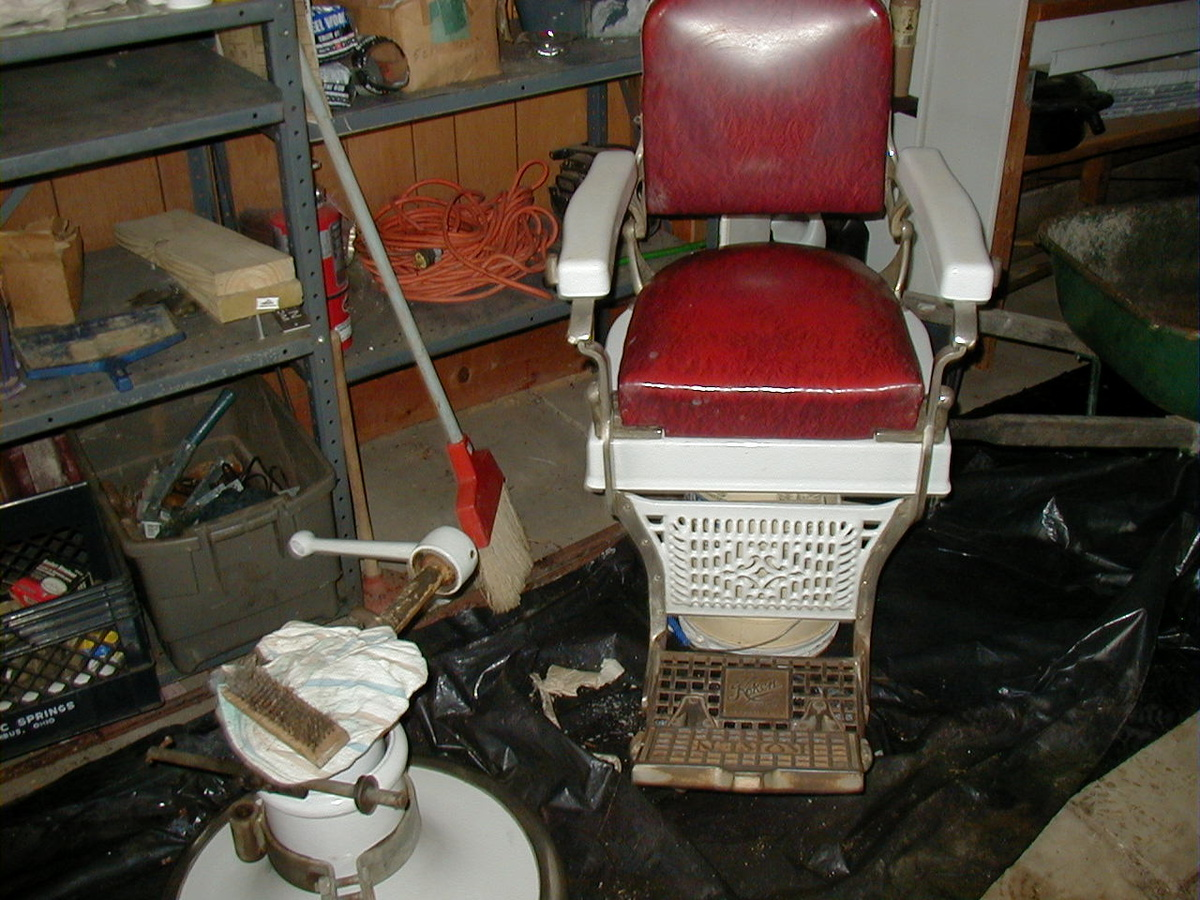 koken oak antique old congress chairs barber style rare rhpinterestcom for indoor shop chair