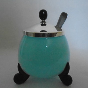 Tango Glass Jam Pot - Art Glass