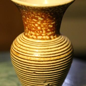 Odd Stoneware Vase - Pottery