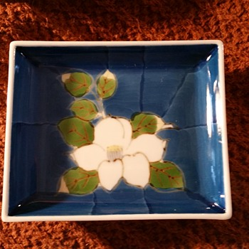 Blue and White Arita/Imari Small Square Plates - Asian