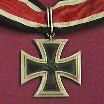 WW II Iron Cross 2nd Class  Conversion to Knights Cross - Military and Wartime