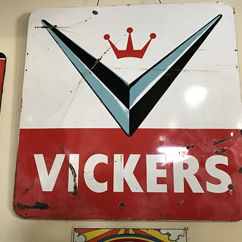 vickers gas  sign 6 ft  - Advertising