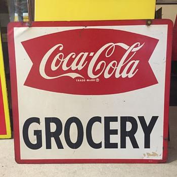 1960's Coca-Cola D/S Sign - Coca-Cola