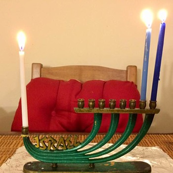 Vintage Dayagi Chanukah Menorah Made in Israel - Lamps