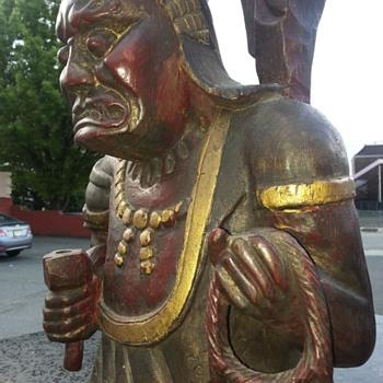 Large Japanese (OKIMONO) Buddhist Zen Statue