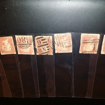 Red Penny Stamps dated - Stamps