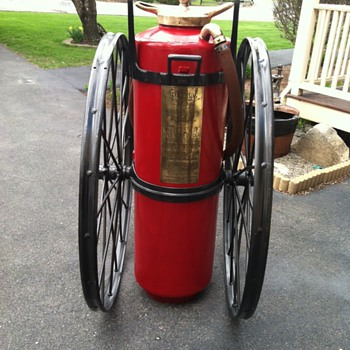 1910 Foamite Chemical Cart