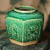Large Green Ginger Jar
