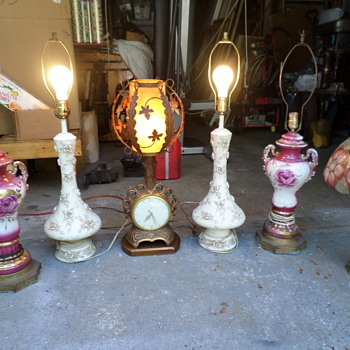 "Today's ""Gets"" from an attic clean-out - Lamps"