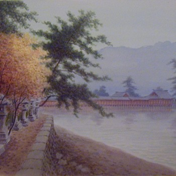 Pre WWII Japanese watercolors - Fine Art