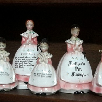My collection of Prayer Ladies - Figurines