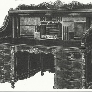 Wm Schwarzwaelder Desk won at Chicago World's Fair 1893 - Furniture