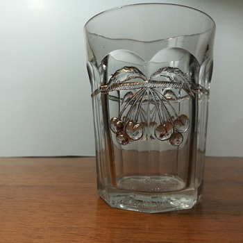 Northwood Cherry and Cable tumbler, c. 1904