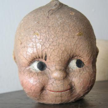 Large old kewpie doll head