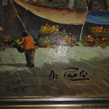 Italian Impressionist Oil Painting by De Paoli - Fine Art