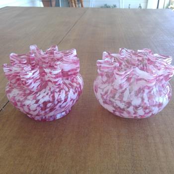 Pair of Welz Vases / Bowls  - Art Glass