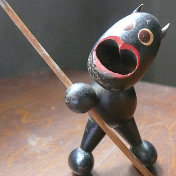 little wooden devil... - Folk Art