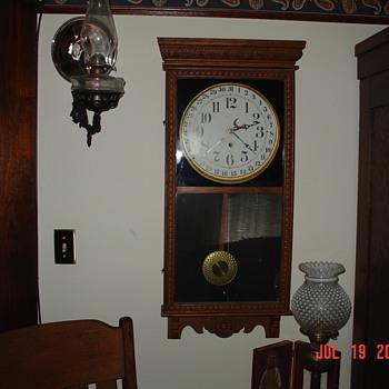 Antique Sessions Oak Calender Clock - Clocks