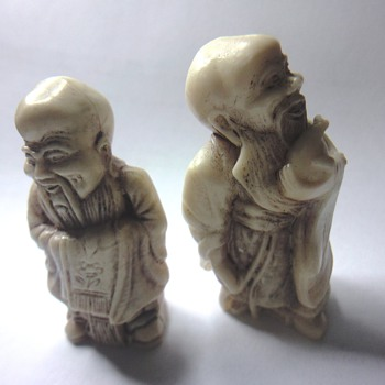 Two Japanese or Chinese bisquit figurines - Asian