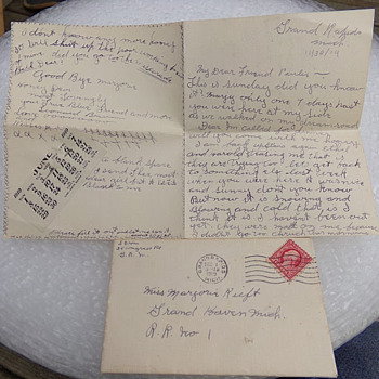 Love Letter 4 of 5 from 1919 - Paper