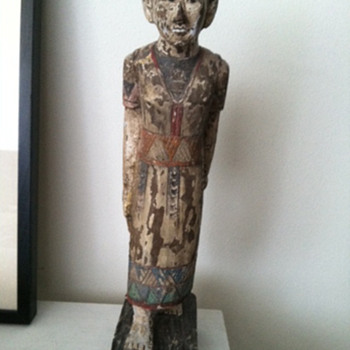 Asian/Pacific Woman Wood Sculpture - Fine Art