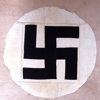 Genuine Swastika My Dad brought it home from WWII, made of cloth - Military and Wartime