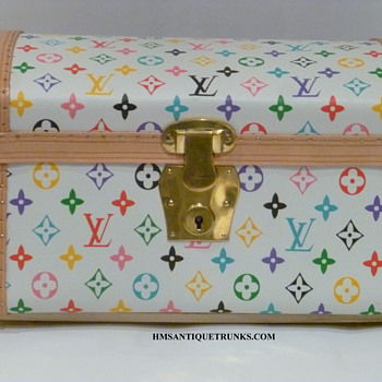 Louis Vuitton Jenny Lind Homage Toy, Doll Antique Trunk #1 - Furniture